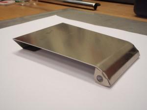 Täcklucka rostfri borstad plåt 1,5 mm.